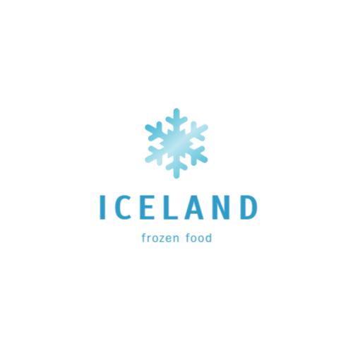 синий снежинка логотип