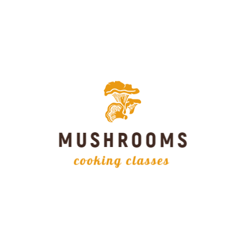Cooking class logo with mushrooms