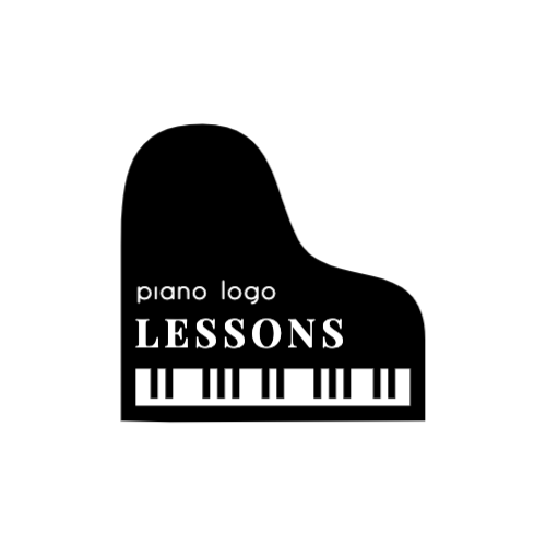 Piano lessons logo design