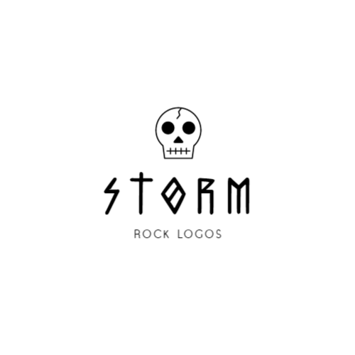 Rock band logo design