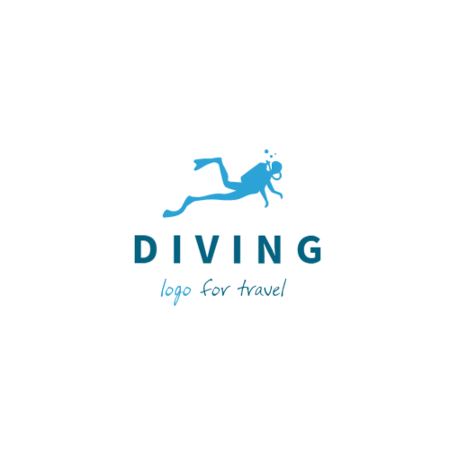 Diving, Logo For Travel Лого