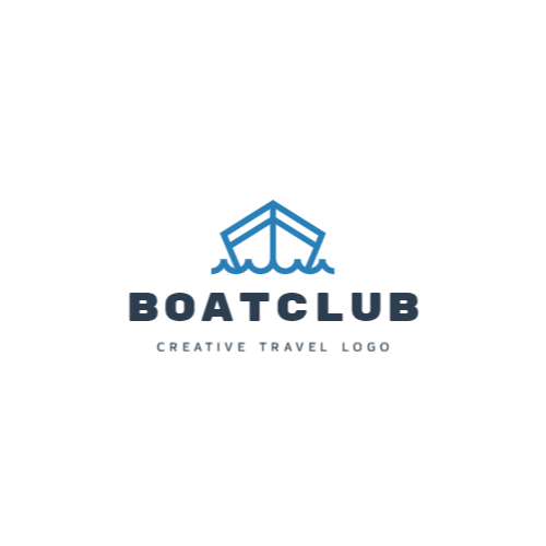 Boatclub, Creative Travel Logo Лого