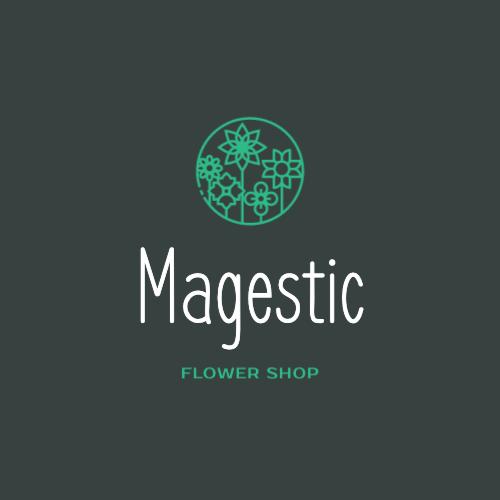 Magestic, Flower Shop Logo