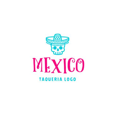 Skull Mexican logo