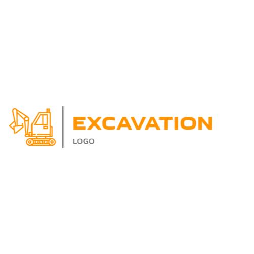 Orange Excavator logo