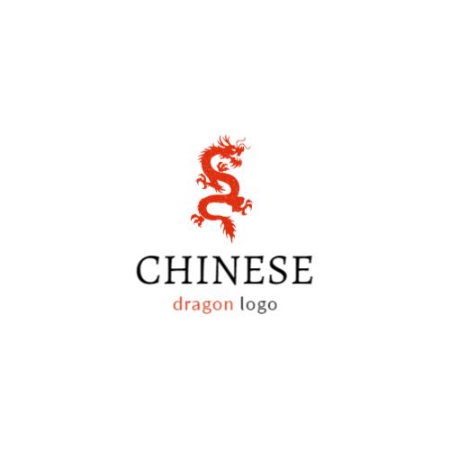 китайский красный дракон логотип