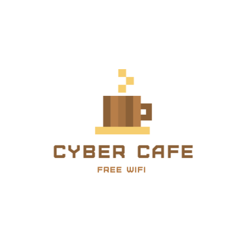 чашка пикселей логотип