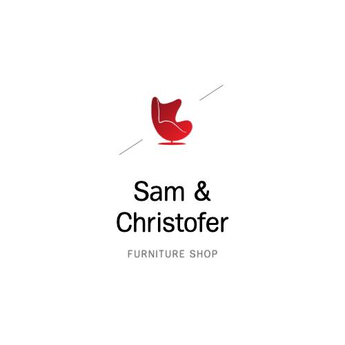 Sam & Christofer, Furniture Shop Logo