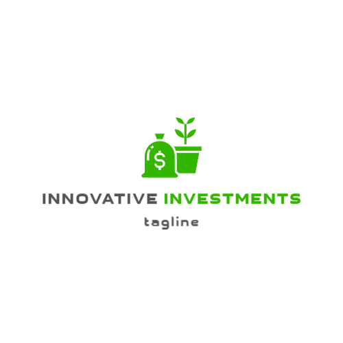 Money bag & Plant logo