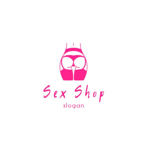 девушка секс шоп логотип