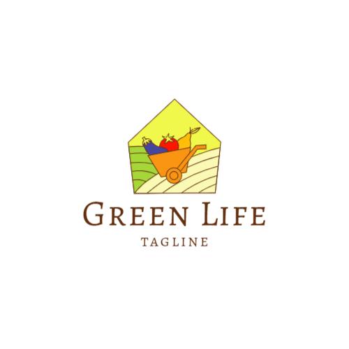 свежие овощи тележка логотип