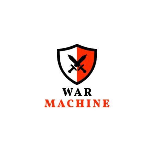 красный и белый щит логотип