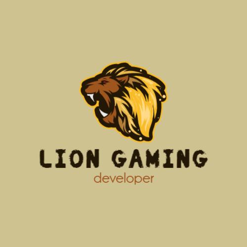 лев игровой логотип