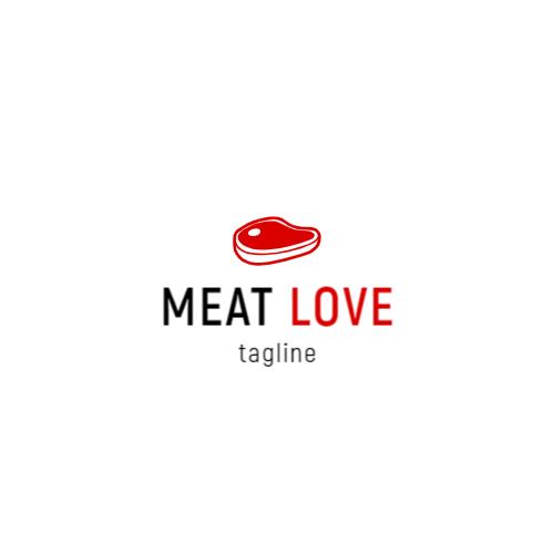стейк мясо логотип