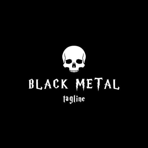 череп металлический логотип