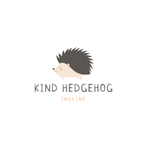 Cute Hedgehog logo