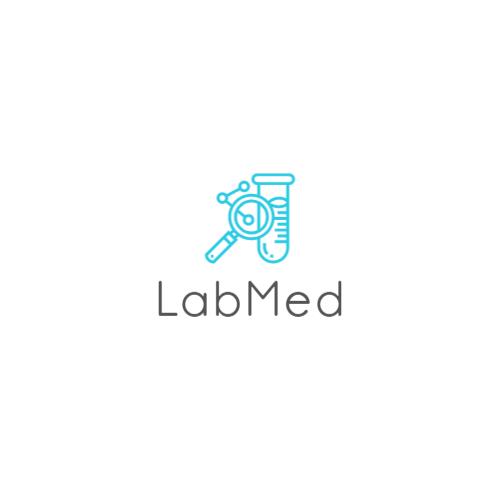 пробирка и лупа логотип