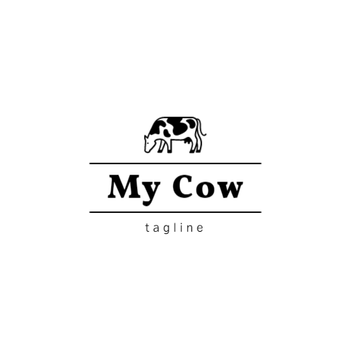 Black and White Cow logo