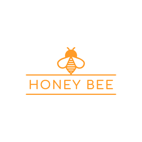 Orange Honey Bee logo