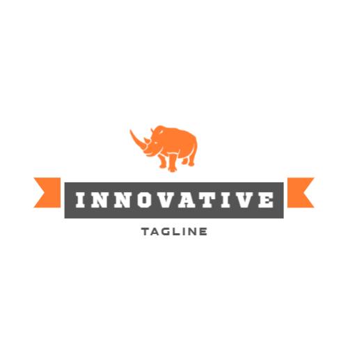 оранжевый носорог логотип