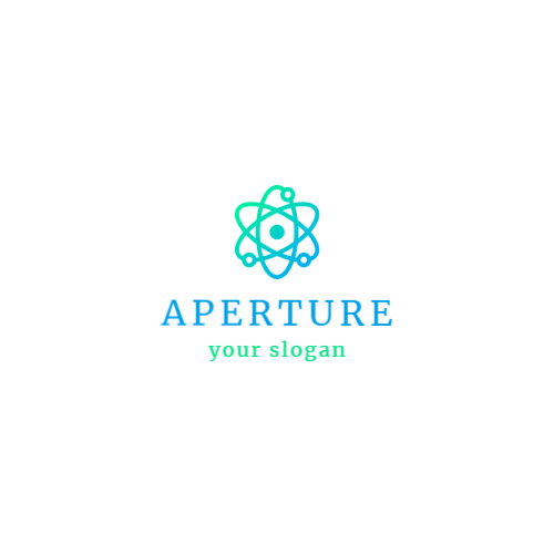 молекула и атомы логотип