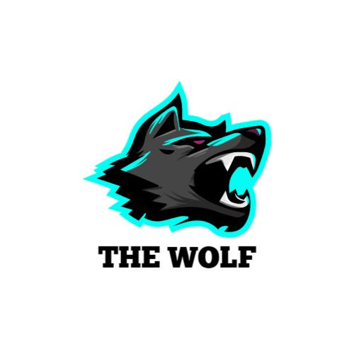 волк игровой логотип