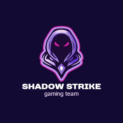 теневой игровой логотип
