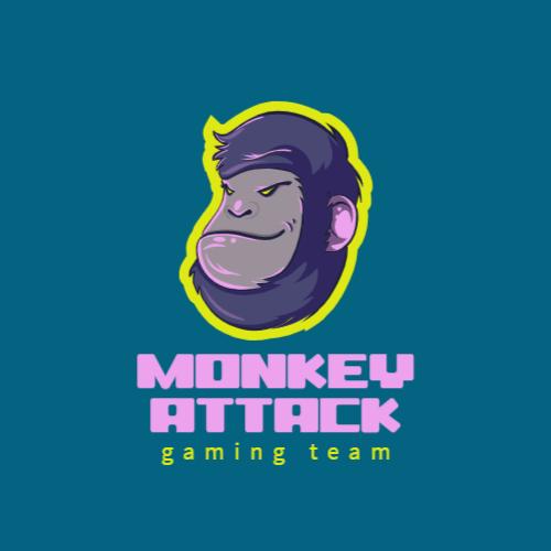 обезьяна игровой логотип