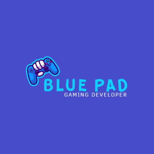 синий геймпад игровой логотип