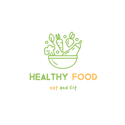 Healthy Food, Eat And Fit Logo