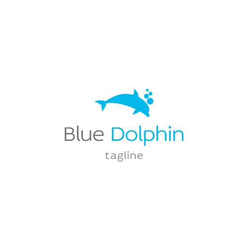 синий дельфин логотип