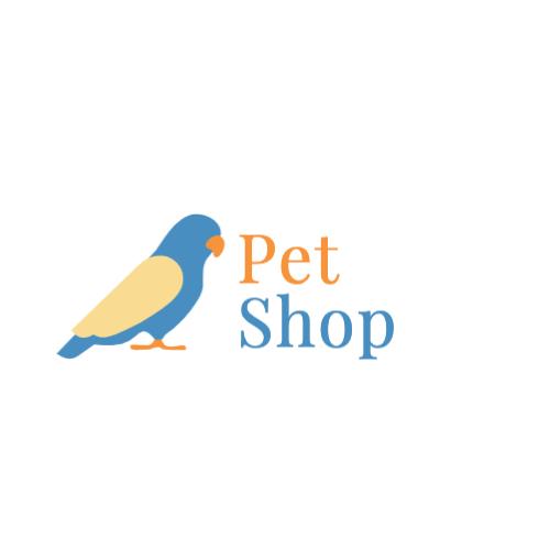 синий попугай логотип