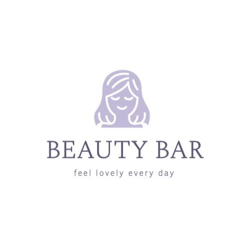 Female beauty salon logo template