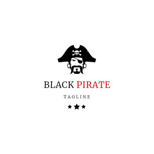 черный пиратский логотип