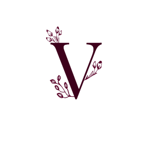 Decorative Letter V logo