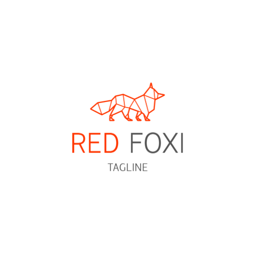 Geometric Red Fox logo