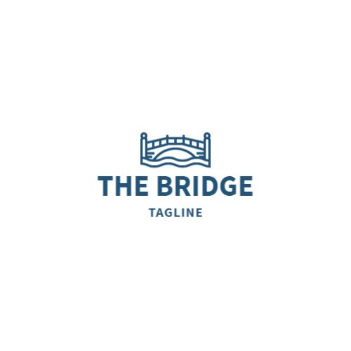 мост иллюстрация логотип