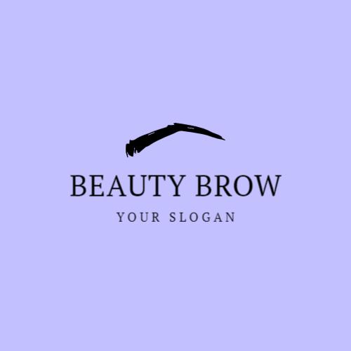 логотип иллюстрации бровей