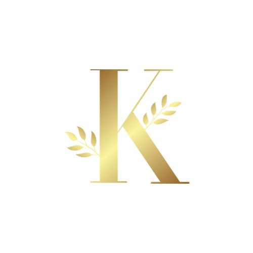 Golden Letter K logo
