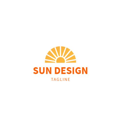оранжевый восход солнца логотип