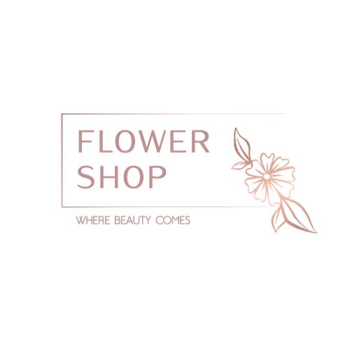 Flower Shop, Where Beauty Comes Logo