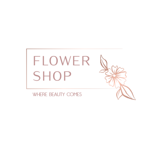 Fresh flower shop logo