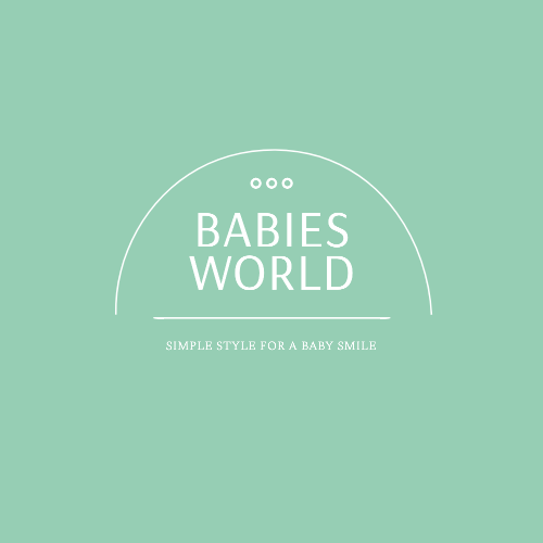 Babies World, Simple Style For A Baby Smile Logo