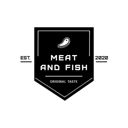 Shop with meat and fish logo