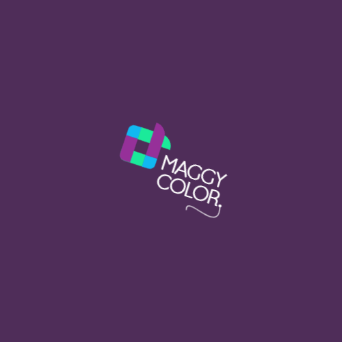 Colored abstract square logo