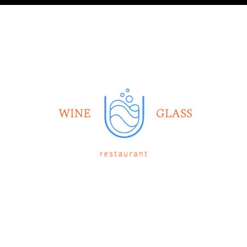 Restaurant, Glass, Wine Logo