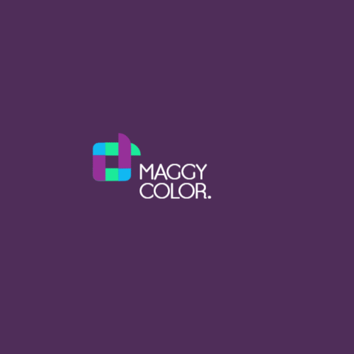 Abstract logo in purple colors