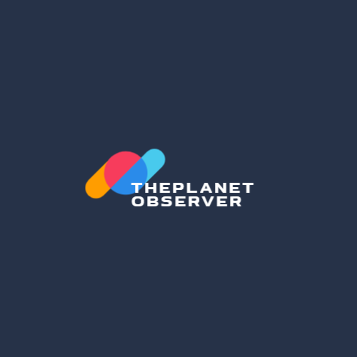 Logo for a company with a planet