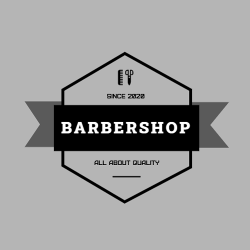 Barbershop, All About Quality, Since 2020 Logo
