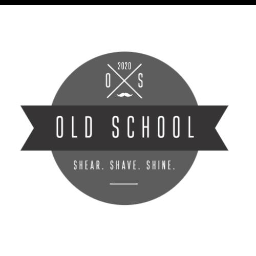 2020, Old School, Shear. Shave. Shine. Logo